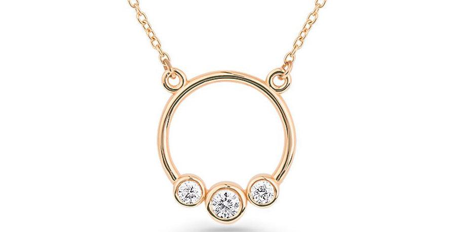 Kette Nora 925 Sterling Silber rosévergoldet