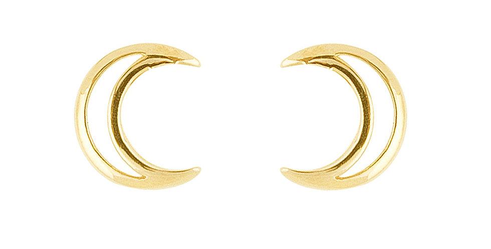 Ohrstecker Luna 925 Sterling Silber vergoldet