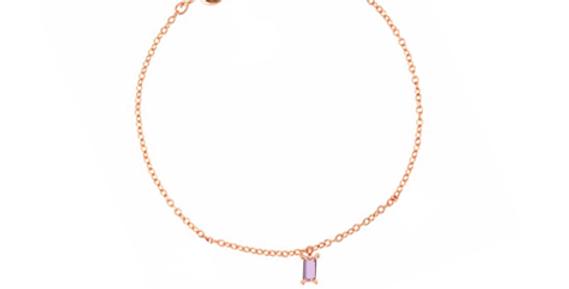Armband Claire Pink 925 Sterling Silber rosévergoldet Zirkonia