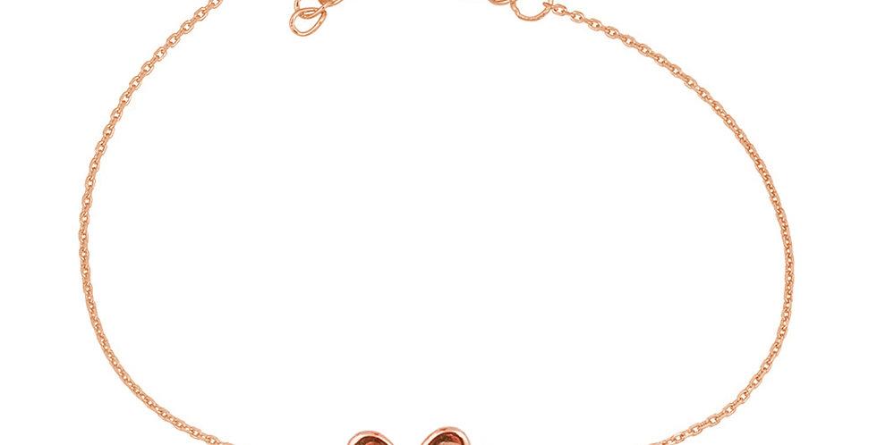 Armband Liv 925 Sterling Silber rosévergoldet