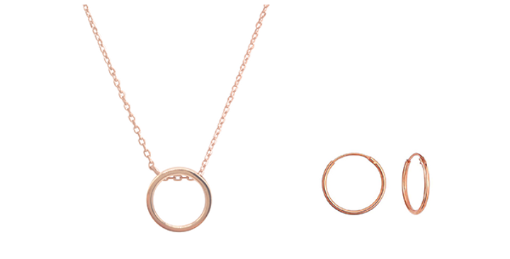 Geschenkset Emilia 925 Sterling Silber rosévergoldet