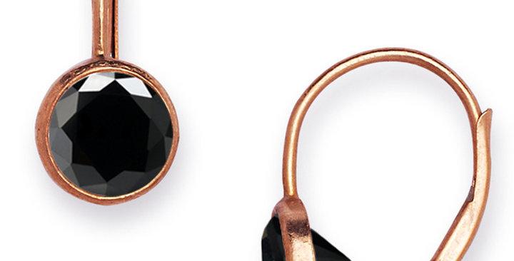 Ohrhänger Olivia 925 Sterling Silber rosévergoldet Zirkonia