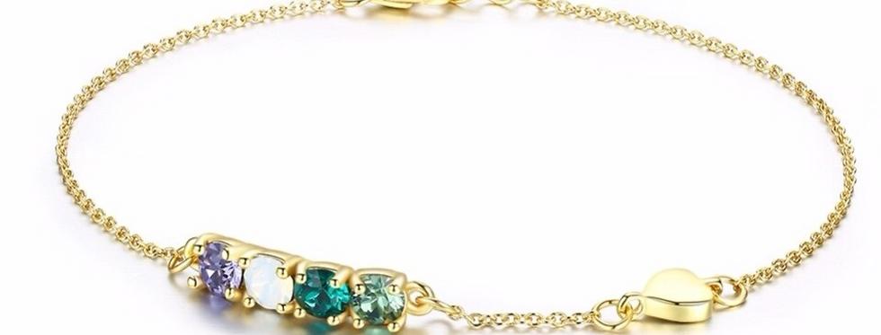 Armband Karla 925 Sterling Silber vergoldet Swarovski