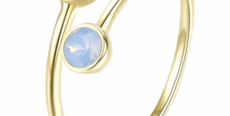 Ring Alma 925 Sterling Silber vergoldet Swarovski