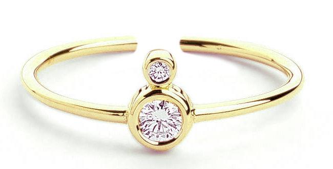 Ring Pia 925 Sterling Silber vergoldet Zirkonia