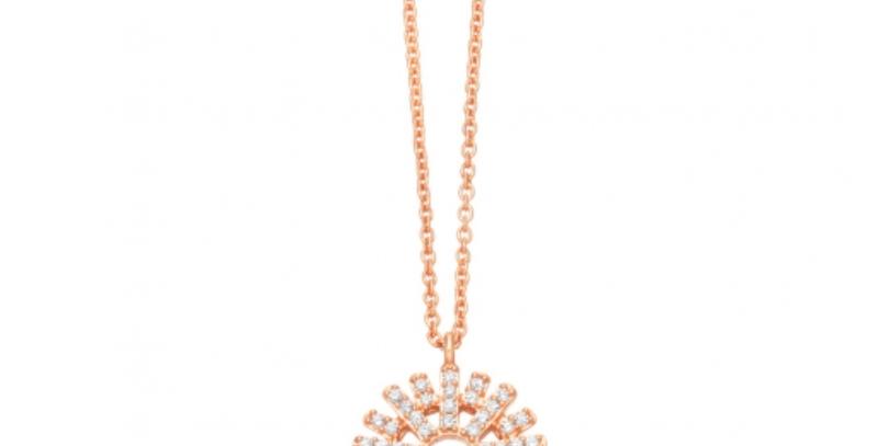 Kette Sunny 925 Sterling Silber rosévergoldet