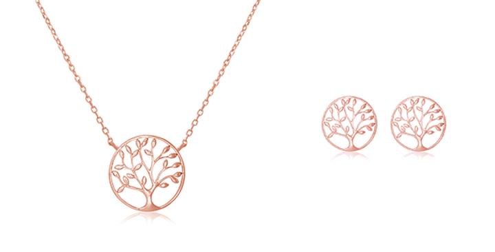Geschenkset Charlotta 925 Sterling Silber rosévergoldet