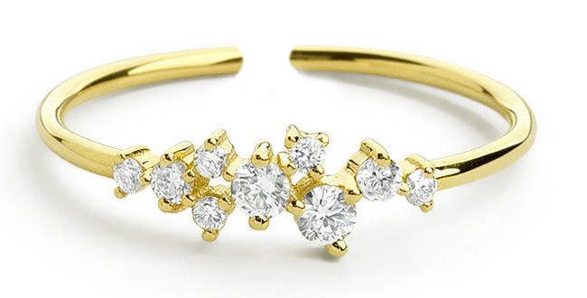 Ring Lotta 925 Sterling Silber vergoldet Zirkonia