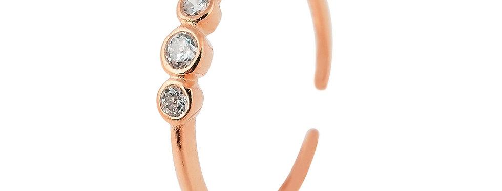 Ring Finja 925 Sterling Silber rosévergoldet Zirkonia