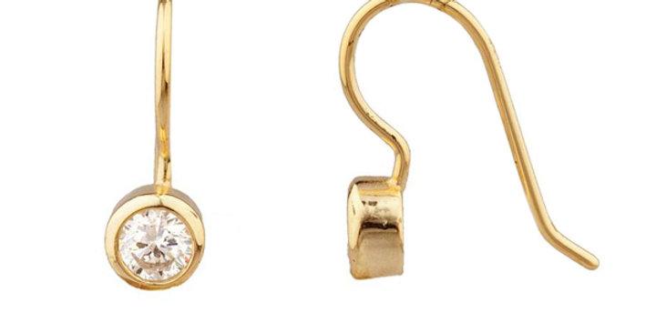 Ohrhänger Edda 925 Sterling Silber vergoldet Zirkonia