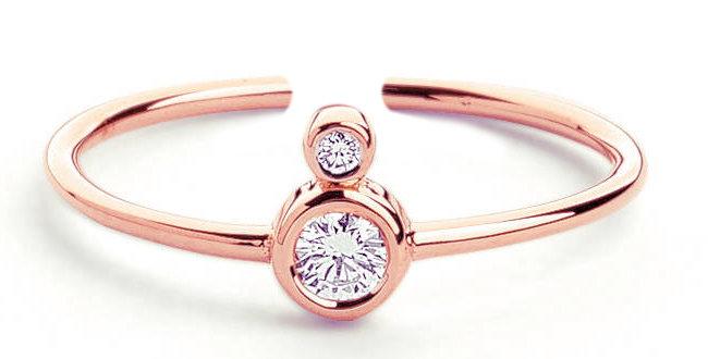 Ring Pia 925 Sterling Silber rosévergoldet Zirkonia