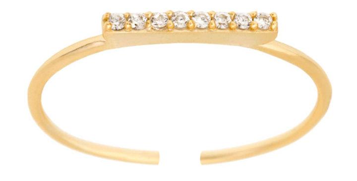 Ring Frieda 925 Sterling Silber vergoldet Zirkonia