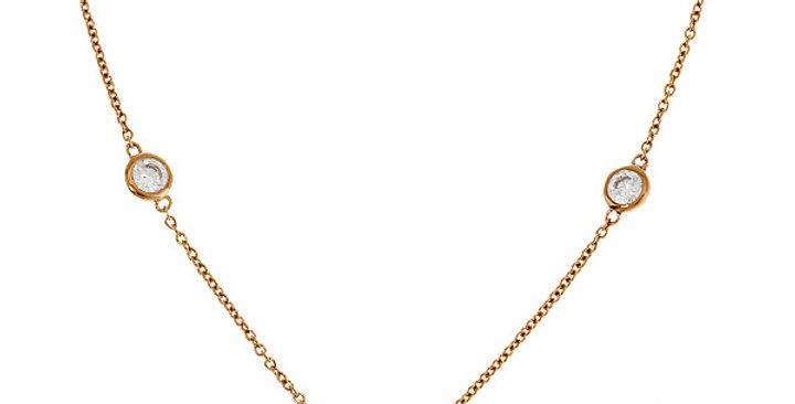 Kette Finja 925 Sterling Silber rosévergoldet Zirkonia