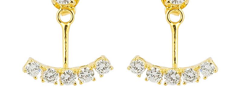 Ohrhänger Bella 925 Sterling Silber vergoldet Zirkonia
