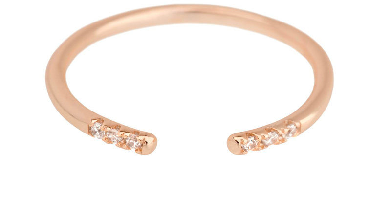 Ring Alicia 925 Sterling Silber rosévergoldet Zirkonia
