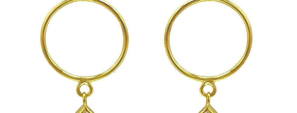 Ohrhänger Insa 925 Sterling Silber vergoldet Zirkonia