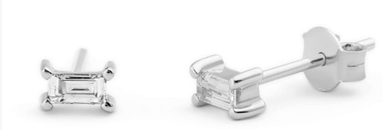 Ohrstecker Claire White 925 Sterling Silber