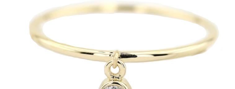Ring Francis 925 Sterling Silber vergoldet Zirkonia