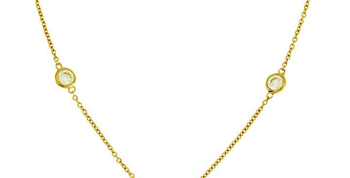 Kette Finja 925 Sterling Silber vergoldet Zirkonia