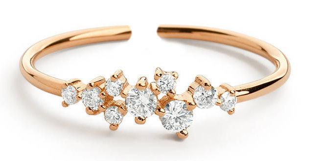 Ring Lotta 925 Sterling Silber rosévergoldet Zirkonia