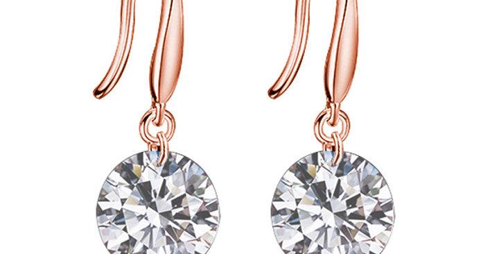 Ohrhänger Elsa 925 Sterling Silber rosévergoldet Zirkonia