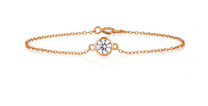 Armband Edda 925 Sterling Silber rosévergoldet Zirkonia