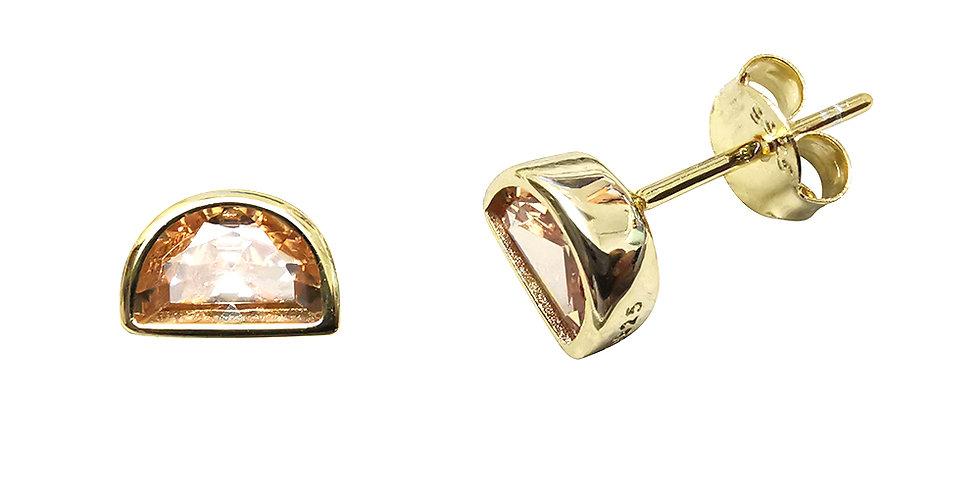 Ohrstecker Ida 925 Sterling Silber vergoldet Zirkonia
