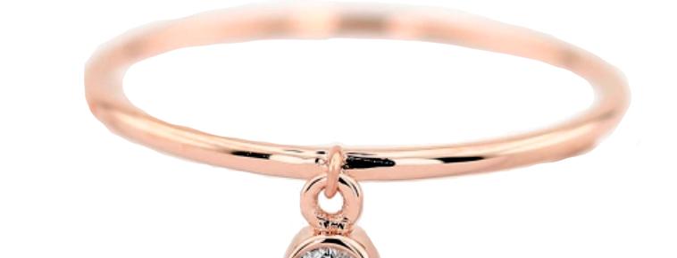 Ring Francis 925 Sterling Silber rosévergoldet Zirkonia