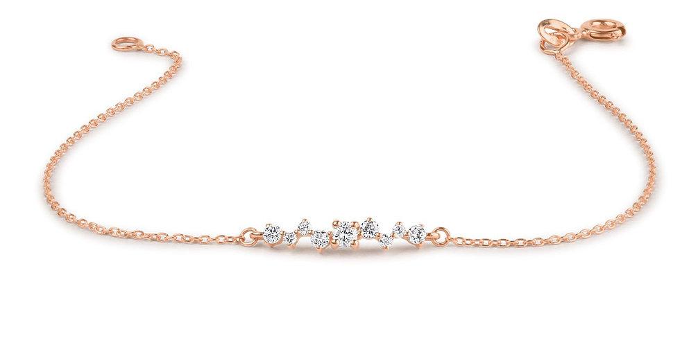 Armband Lotta 925 Sterling Silber rosévergoldet