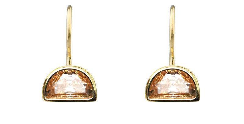 Ohrhänger Ida 925 Sterling Silber vergoldet Zirkonia