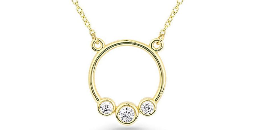 Kette Nora 925 Sterling Silber vergoldet