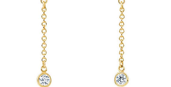 Ohrhänger Finja 925 Sterling Silber vergoldet Zirkonia