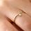 Thumbnail: Ring Francis 925 Sterling Silber vergoldet Zirkonia