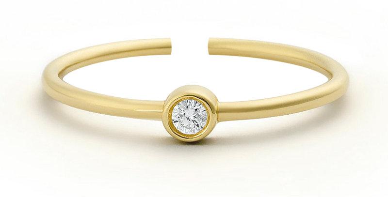 Ring Edda 925 Sterling Silber vergoldet Zirkonia