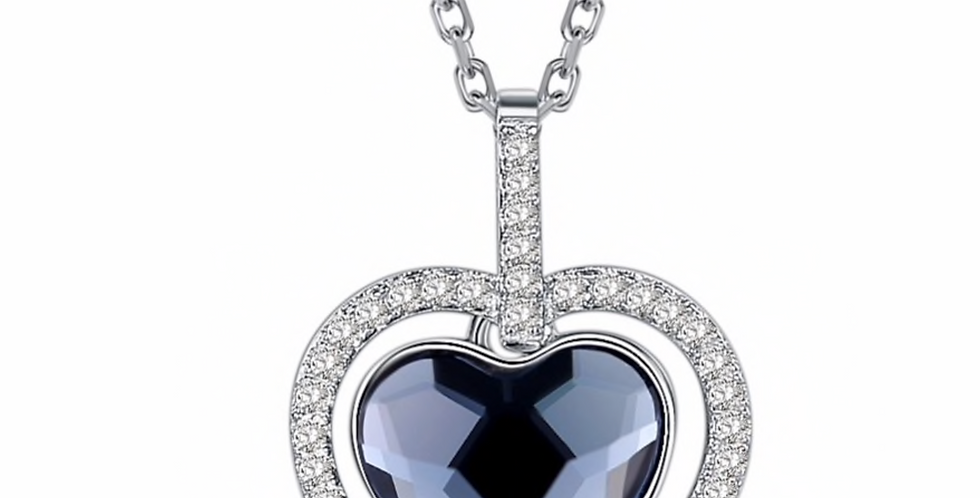 Kette Matia 925 Sterling Silber Swarovski Herz