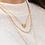 Thumbnail: Kette Luka 925 Sterling Silber vergoldet
