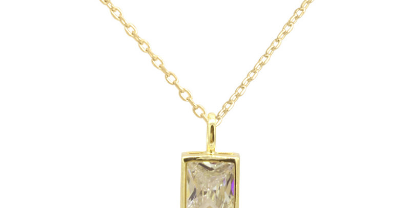 Kette Tilla 925 Sterling Silber vergoldet Zirkonia