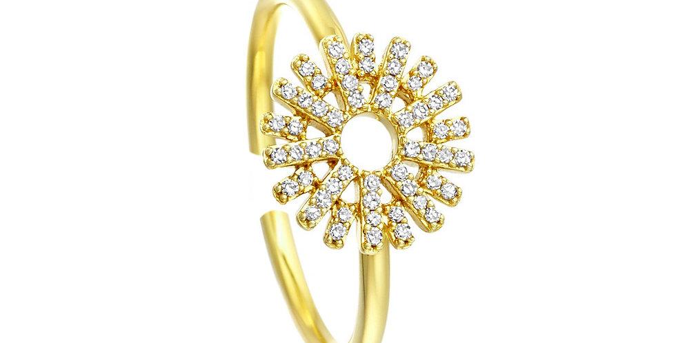 Ring Sunny 925 Sterling Silber vergoldet Zirkonia