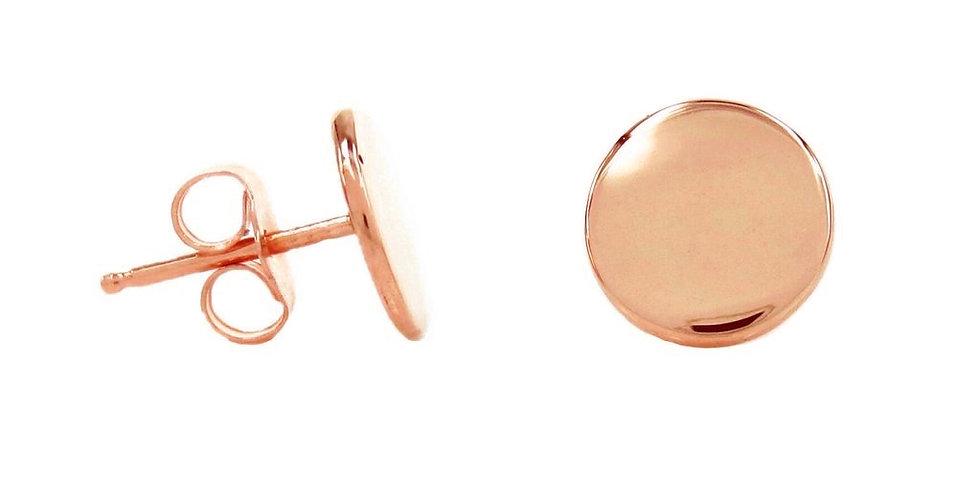 Ohrstecker Freya 925 Sterling Silber rosévergoldet - Gravur