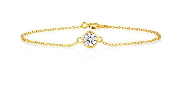 Armband Edda 925 Sterling Silber vergoldet Zirkonia