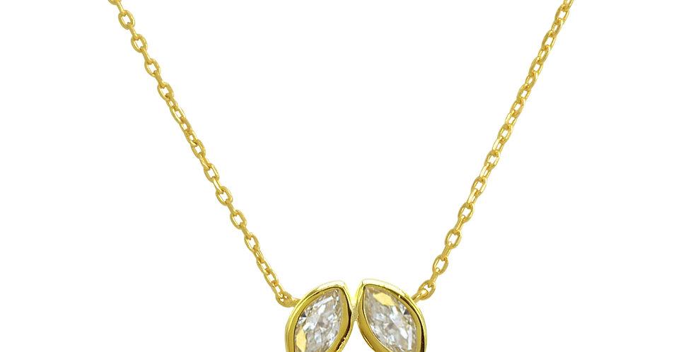 Kette Anita 925 Sterling Silber vergoldet Zirkonia