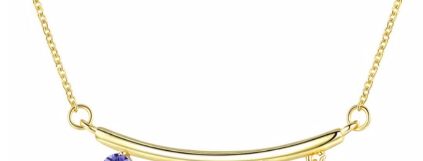 Kette Karla 925 Sterling Silber vergoldet Swarovski