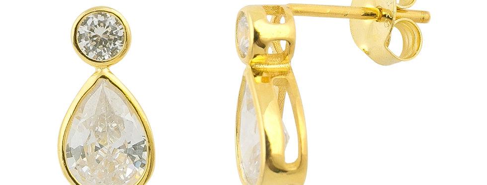 Ohrstecker Smilla 925 Sterling Silber vergoldet Zirkonia
