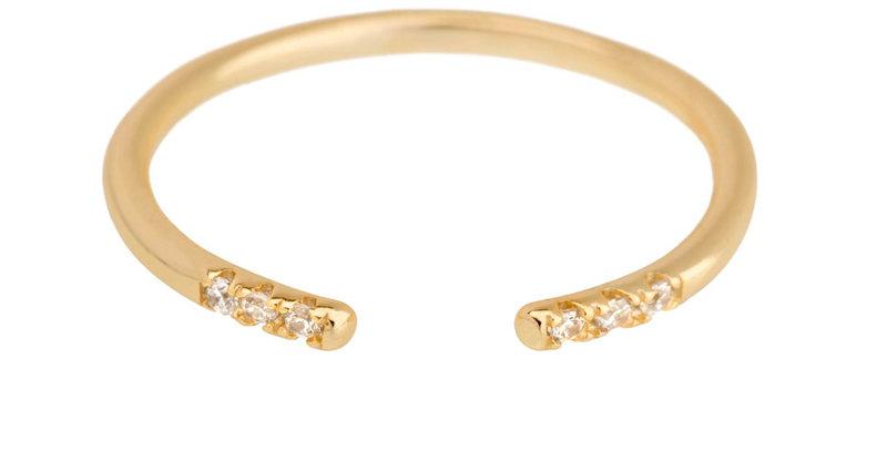Ring Alicia 925 Sterling Silber vergoldet Zirkonia