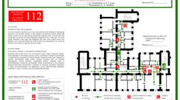 План Эвакуации для небольшой Гостиницы на Русском и Английском языках