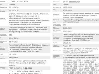Росстандарт зарегистрировал номера новых Сводов Правил