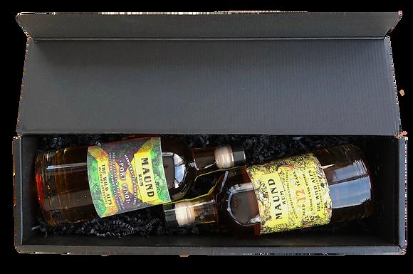 """Double Set MAUND Rum - MAUND Rum 12yo & MAUND Rum """"Port Pinot """"Package"""