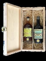 WA 2er Holzkasette Maund Rum Morris Gin