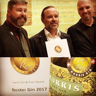 AWARD BEST GIN 2017 - MORRIS GIN