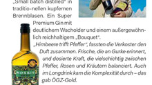 MORRIS Gin, ÖGZ Sieger, Gold 2017